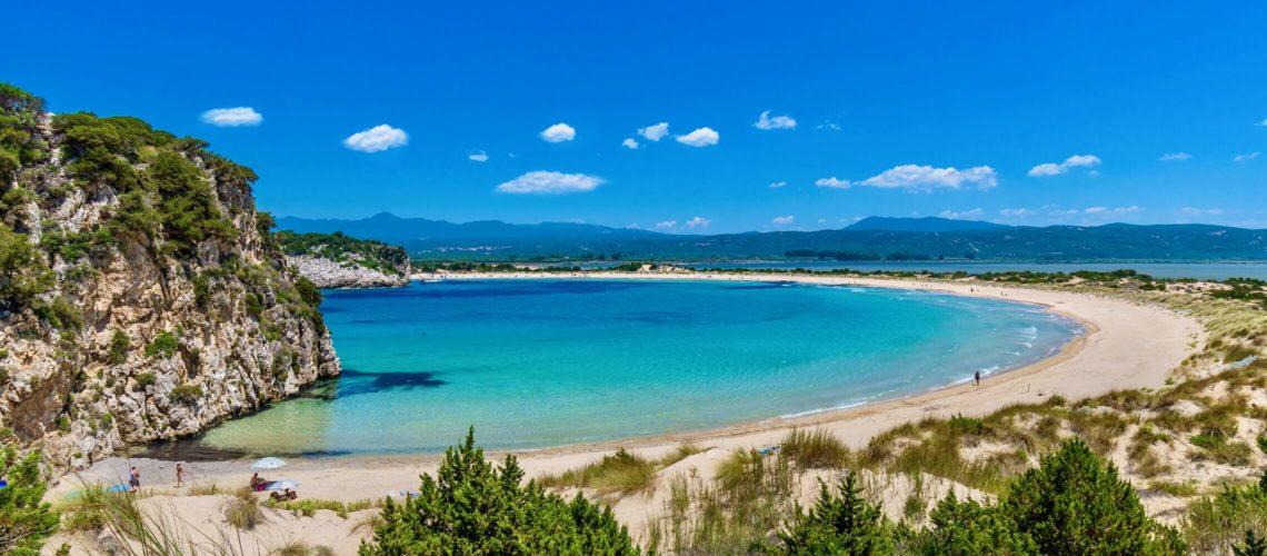 Voidokilia Strand på Peloponnes